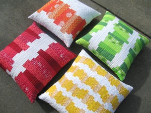 Image of CHOPPED VEGETABLES PILLOWS pdf quilted pillow covers pattern