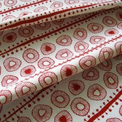 Image of Daisies 100% organic cotton fabric - red