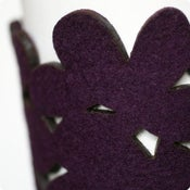 Image of NEW! cozy/cuff SNAP - aubergine
