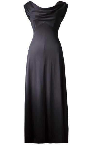 Image of Chic Cowl Neck 1970s Maxi Dress