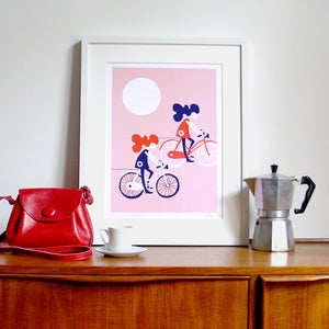 Image of Freewheelin' Screen Print | Pink | {20% OFF + FREE SHIPPING}