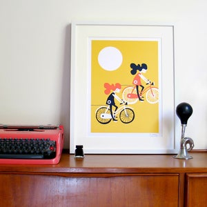 Image of Freewheelin' Screen Print | Yellow