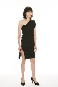 Image of (SOLD OUT) N25 - 90% COTTON/10% BAMBOO ULTRA-SOFT JERSEY BLEND SINGLE-SHOULDERED DRESS