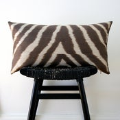 Image of SAFARI Pure Silk Cushion Cover 63 x 34 cm