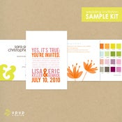 Image of eco-friendly wedding invitation sample kit