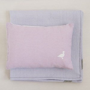 Image of mini pillow + blanket set pale pink