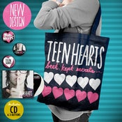 Image of TEEN HEARTS BKS TOTE BAG!