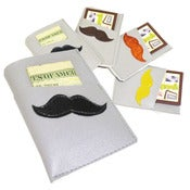Image of Mustache ) Mini Card Wallet