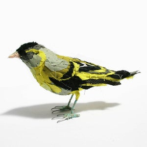 Image of Fabric species bird- SISKIN