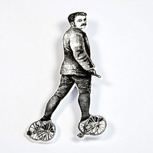 Image of BROOCH - the man: training wheels