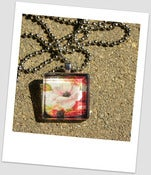 Image of Vintage Flower Glass Tile Pendant
