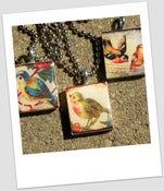 Image of Vintage Birds Scrabble Tile Pendants