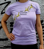 Image of Girls Lavender Flying Giraffe Tee