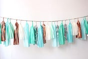 Image of Tassel Garlands-Blue/Mint