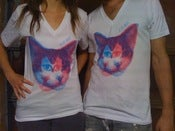 Image of TLL 3D Kitty V-Neck (American Apparel)