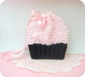 Image of Simple Knit Cupcake Purse Pattern