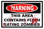 Image of WARNING This Area Contains Flesh Eating Zombies