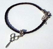 Image of Scissors Bracelet (Black or White)