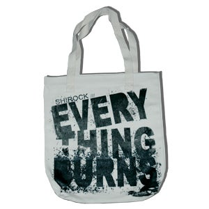 "Image of ""Everything Burns"" Canvas Tote Bag"