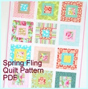 Image of Spring Fling Baby Quilt, PDF Tutorial