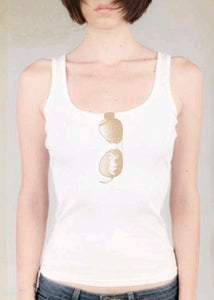 Image of Made in the Shade ladies ribbed tank *white