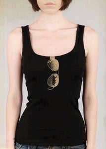 Image of Made In The Shade ladies ribbed tank *black
