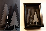 Image of Anima - original articulated paper doll in shadowbox