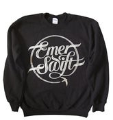 Image of Emer Swift sweatshirt silver print on black ltd edition