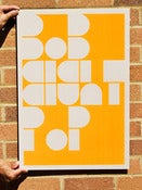 Image of Flouro Orange Bob Eight Pop Poster