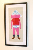 Image of &quot;Figure&quot; Silkscreen Print Framed