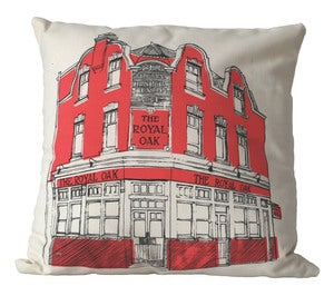 Image of East End Pub Crawl Cushion, ROYAL OAK