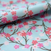 Image of Blossom Fabric :: blue