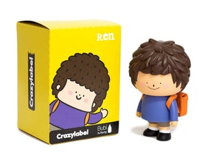 Image of REN 5&quot; Vinyl Toy Figure CRAZY LABEL BUBI AU YEUNG