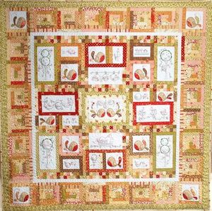 Image of TAIL FEATHERS block of the month quilt (pattern only)