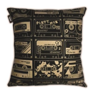 Image of C-60 Cushion - Black and Gold