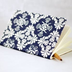 Image of Damask Fabric Notebook