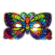 Image of HOLOGRAPHIC BUTTERFLY MASK