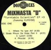 Image of MIXMASTA D &quot;TURNTABLE SCIENTIST&quot; 12&quot;          ***** SOLD OUT