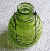 Image of Green Glass Beehive Jug