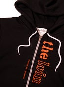 Image of veticle logo zip hoody * orange/black
