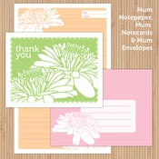 Image of Sherbet Doily + Mum Deluxe Printable Stationery Set 