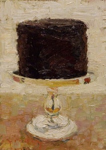 "Image of Chocolate Cake, Giclee Print, 5""x7"""