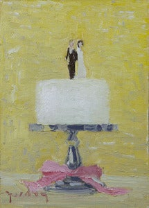 "Image of Wedding Cake, Giclee Print, 5""x7"""