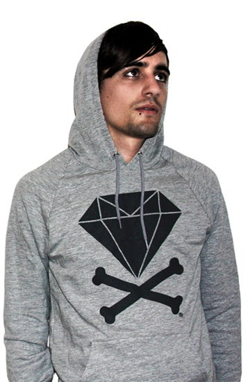 Image of Diamond &amp; Crossbones Hoodie (Heather/Dark Grey)