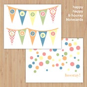 Image of Celebration Deluxe Printable Notecard Set
