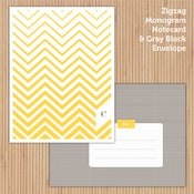 Image of Marigold Zigzag Printable Stationery Set