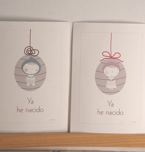 Image of Lminas personalizadas beb Huevito o Angelito- Custom baby prints