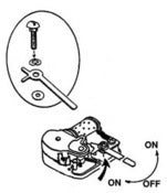 Image of On/Off Mechanism for Music Box - Lever Stop