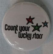 "Image of Count Your Lucky Stars ""Logo"" Button"