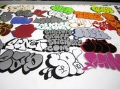 Image of 100 Pcs Double Vinyl Stickers